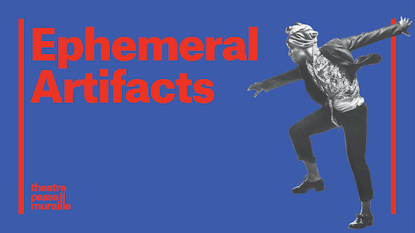 Horizontal Ephemeral Artifacts poster image with image of man in dynamic tap dancing position.