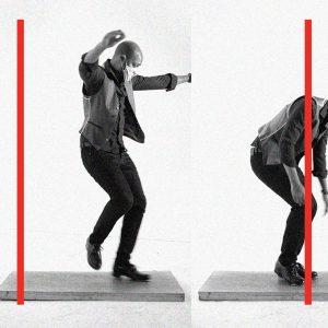 Dancer Travis Knights mid-dance reel